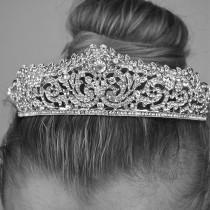 wedding photo - Silver Classic Mouse Ear Tiara