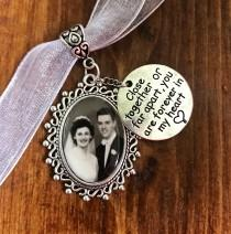 wedding photo - Memorial Wedding Bouquet Photo charm - Carry the memory of your loved ones Locket - Great gift for Bride DIY or Custom Made