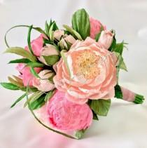 wedding photo - Bouquet wedding,bridal bouquet,paper flowers bouquet,bouquet peony,bouquets,wedding flowers,bridal flower.