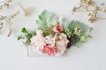wedding photo - Eucalyptus Hair Comb, Greenery crown, Bridal hair, Floral hair pin, Wedding Hair Comb, Bridal Comb, Floral Comb, Wedding Comb Boho Hair Comb