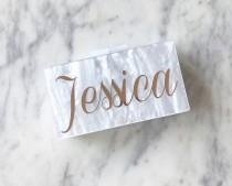 wedding photo - Acrylic Clutch, Box Clutch, Custom Bridesmaid Clutch, Bridal Clutch, Custom Name Clutch, Name Purse, Acrylic Purse, Bridesmaid Clutch