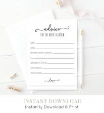 wedding photo - Wedding Advice Card