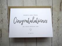 wedding photo - Wedding Day card // Congratulations on your wedding day // Card for bride and groom // Personalised wedding card // Friend's wedding day //