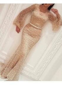 wedding photo - Elegante Abendkleid Mit Ärmel