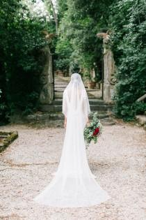 wedding photo - Silky cathedral length veil, silk tulle like fabric, ethereal, soft, bridal veil, covers face, blusher,long train, flowy, soft, ivory, white