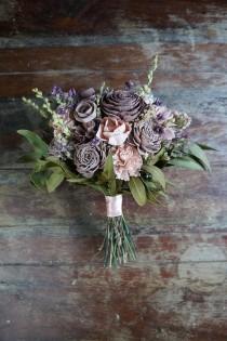 """wedding photo - Mauve and Blush Sola Flower Bouquet // """"Provencal Jardin"""" Wood Flower Bouquet, Keepsake Wood Flower Wedding Bouquet, Bridal Bouquet"""