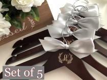 wedding photo - Bride gift, Bridal hanger, Wedding dress hanger, Bridesmaid gift, Wedding hanger, Custom hanger, Personalized wire hanger, wire hanger
