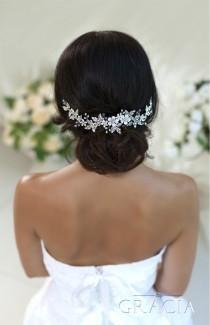 wedding photo - Wedding hair accessories Bridal hair piece Wedding headband Crystal hairpiece Rhinestone headpiece Flower Bridal Headpiece With Crystals