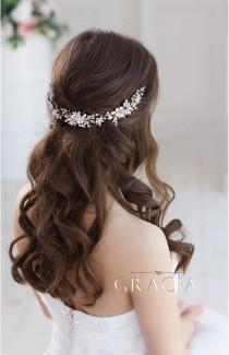 wedding photo - Flower Bridal hairpiece Wedding headpiece Bridal headband Bridal hair piece Bridal headpiece Wedding Back Headpiece Wedding hair accessories