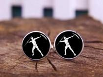 wedding photo - Javelin Cufflinks, Tie Clip, Personalized Cuff Links, Javelin Thrower Cufflinks, Javelin Throwing Cuff Links, Javelin Athletes Cufflinks