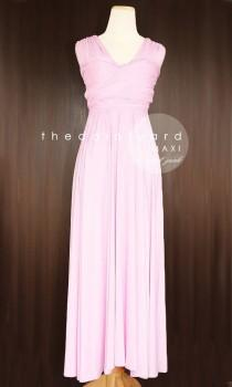 wedding photo - TDY Sweet Pink Maxi Bridesmaid Convertible Dress Infinity Multiway Wedding Full Length Cocktail Evening Prom Long Gown (Regular & Plus Size)