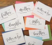 wedding photo - WEDDING DAY CARDS, Groom Card, Bride Card, Mother of the Bride Card, Father of the Bride Card, Wedding Cards, Wedding Thank You Cards