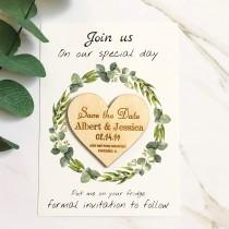 wedding photo - Save the date heart, Personalized Save The Date, Wedding Invitation Wood Save The Date Magnet with Cards Save The Date Magnets Wedding Cards