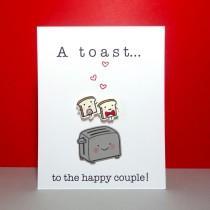 wedding photo - Wedding Card, Engagement Card, Funny Wedding Card, Congratulations, Bridal shower, Wedding Shower, Wedding Toast, Food Pun, Handmade Card