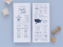 wedding photo - infographic wedding program template, fun wedding programs, non traditional wedding program, 100% editable in templett