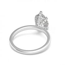wedding photo - 3.50 Carat Pear Moissanite & Diamond Prongs Solitaire Engagement Ring 14k White Gold, 12x8mm Moissanite Engagement Ring, Raven Fine Jewelers