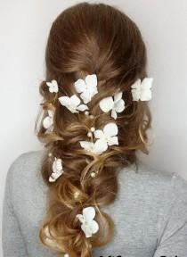 wedding photo - Extra long hair vine Bridal Wedding hair vine long hair vine babys breath hair piece Pearls hair vine Flower Floral Gift Valentine's day