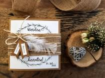 wedding photo - NOTE HOCHZEIT Boho-Wedding Invitation