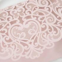 wedding photo - Laser Cut Pocket - Blush Wedding Invitation - Pink Lasercut Pocket - DIY Wedding Invitation Supplies