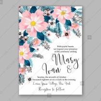 wedding photo -  Pink Peony wedding invitation template design banquet