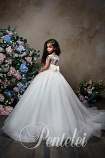 29315c5ece7f Flower Girl Dress, Tulle Flower Girl, Tutu Flower Girl, Flower Girl Dresses,  Satin Dress, Birthday Party, Tutu Flower Girl Dresses