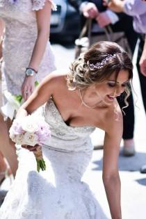 wedding photo - Pearl Crystal Hair Vine,Bridal Halo Headpiece,Silver Hair Vine,Bridal Halo Crown,Silver Wedding Tiara,Bridal Pearl Tiara,Hair Vine Flower