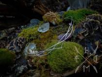 wedding photo - Elvish crown, elven tiara, silver elven circlet, elvish head dress, elven wedding jewelry, medieval bride, fantasy crown, larp crown