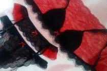 wedding photo - Sexy lingerie Garter belt Padded bralette Black lingerie Lace lingerie Sexy bralette See through lingeri Sheer lingerie Erotic panties Gift