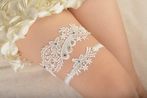 wedding photo - bridal garter, wedding garter set, bride garter set,toss garter , something blue garter, beaded floral garter,garters for wedding