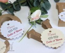 """wedding photo - 20 labels """"the round & oval scalloped"""""""