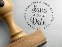 wedding photo - Save the date Stamp, custom save the date, Save The Date Template, Dates Stamp , Custom Save Dates Stamper, calendar stamp, initials and dat