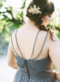 wedding photo - Bridal Hair Comb. Gold Bridal Headpiece. Wedding Gold Hair Piece {Eugenia}