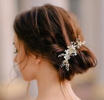wedding photo - Bridal Headpiece, Personalized Bridal Headpiece, Bridal Hair Piece, Bridal Hair Comb, Wedding Hair Comb, Wedding Headpiece, Headpiece
