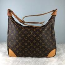 wedding photo - RARE & COLLECTION Authentic Louis Vuitton Monogram Boulodge 35 Shoulder Bag / Louis Vuitton Bag / Vintage Louis Vuitton Bag