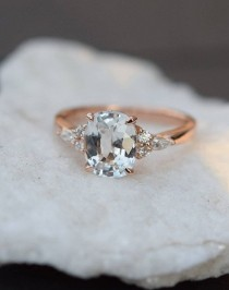 wedding photo - Engagement Ring. Rose Gold Engagement Ring. Champagne Sapphire Ring By Eidelprecious. This Is Our New CAMPARI Design. Very Beautiful…