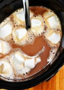 wedding photo - Slow Cooker Hot Chocolate