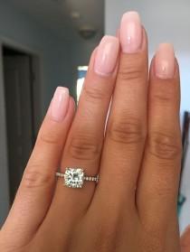 wedding photo - 2.5 Carat Cushion Cut Engagement Ring #cushioncut #engagementring #cushioncutring