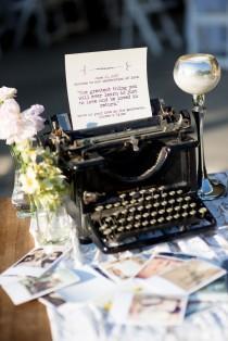 wedding photo - Vintage Wedding Reception. #typewriter
