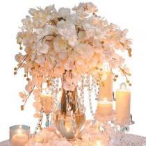 wedding photo - Show Ad - Decor - USA - California - Acrylic Hanging Crystal Garland Manzanita Branches Cake Stands Wishing Trees