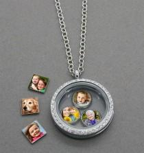 wedding photo - Make Your Own Photo Charms And Floating Locket! Easy And Fun!