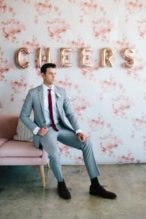 wedding photo - Dapper Rental Suits From The Black Tux