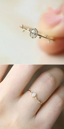 wedding photo - Lovely Rose Gold Ring #jewelry #rings