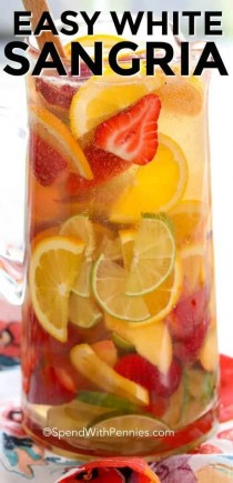 wedding photo - Easy White Sangria - Spend With Pennies