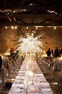 wedding photo - White Orchid Centerpiece