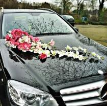 wedding photo - Wedding Car Decoration .. Décoration Voiture De Mariage