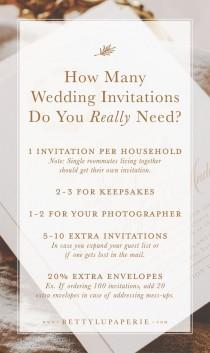 wedding photo - Find Out How Many Wedding Invitations To Order