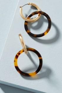 wedding photo - Reese Hoop Drop Earrings