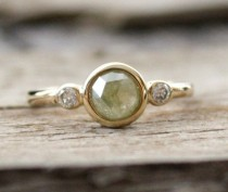 wedding photo - A Greenish-grey Diamond, Just Right For Moody Fall Days.