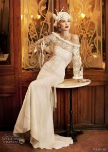 wedding photo - Another Beautiful Wedding Dress Inspired By 20s Fashion.