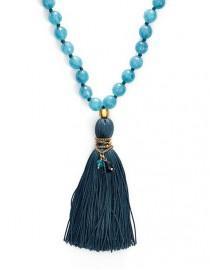 wedding photo - Long Beaded Tassel Necklace / Satya Jewelry